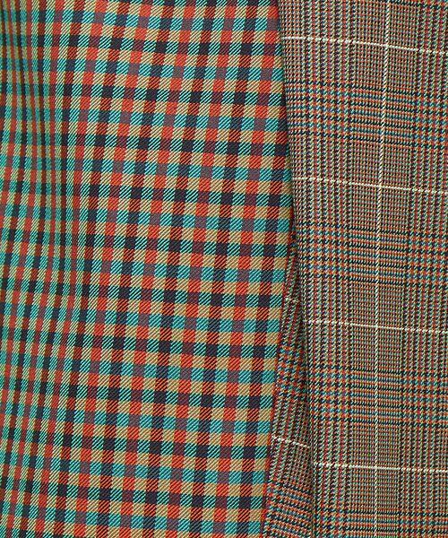 Abahouse Devinette / アバハウス・ドゥヴィネット ロング・マキシ丈スカート | ミックスチェックインタックスカート | 詳細6