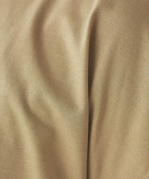 abahouse mavie / アバハウス マヴィ Tシャツ | ecru 刺繍ロゴゆるTシャツ | 詳細14