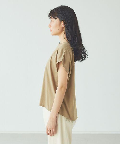 abahouse mavie / アバハウス マヴィ Tシャツ | ecru 刺繍ロゴゆるTシャツ | 詳細8