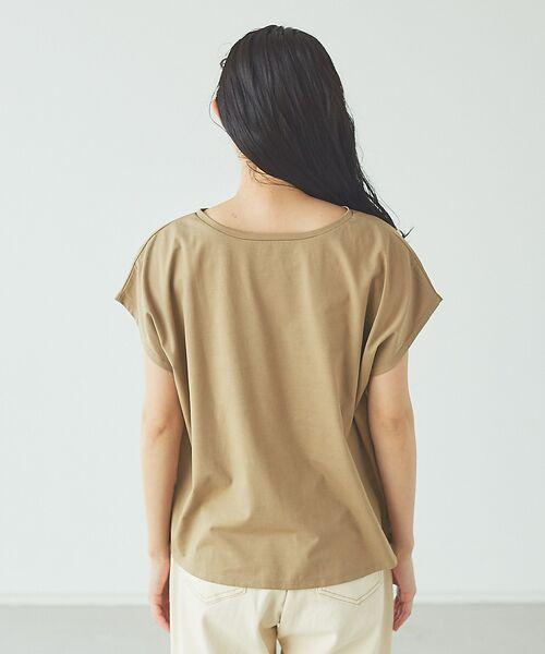 abahouse mavie / アバハウス マヴィ Tシャツ | ecru 刺繍ロゴゆるTシャツ | 詳細9