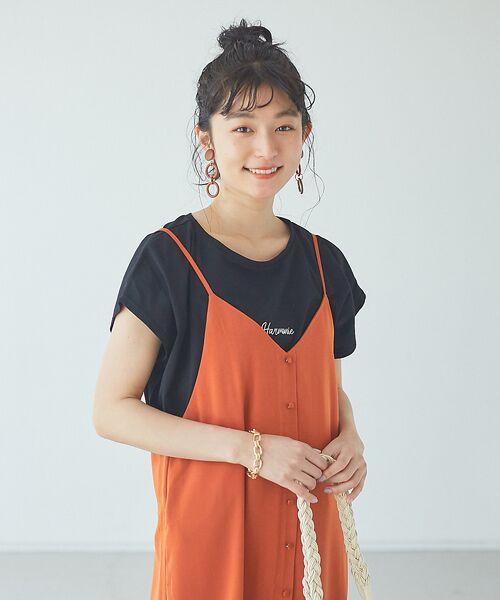 abahouse mavie / アバハウス マヴィ Tシャツ | ecru 刺繍ロゴゆるTシャツ | 詳細18
