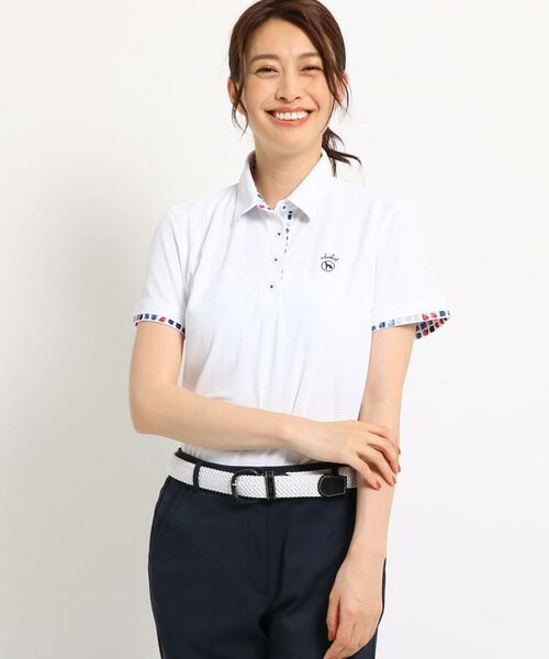 adabat / アダバット ポロシャツ | 【UVカット/防透け】半袖ポロシャツ レディース(ホワイト(001))