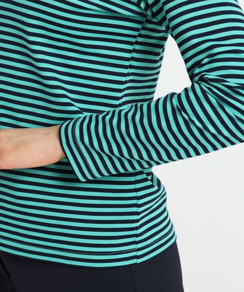 adabat / アダバット カットソー | 【吸水速乾/UVカット】adabatミラノリブ ボーダーハーフジップシャツ | 詳細7