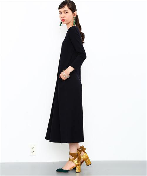 ADAM ET ROPE' / アダム エ ロペ ミニ丈・ひざ丈ワンピース   針抜きフライスAラインドレス   詳細7