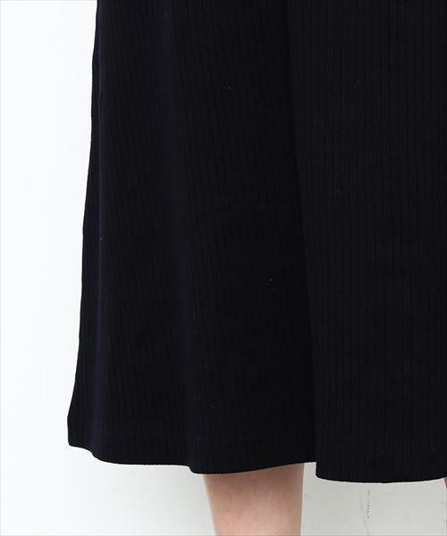 ADAM ET ROPE' / アダム エ ロペ ミニ丈・ひざ丈ワンピース   針抜きフライスAラインドレス   詳細12
