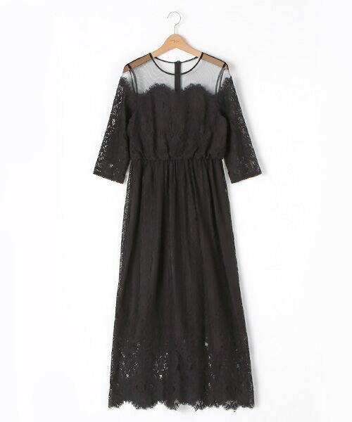 ADAM ET ROPE' / アダム エ ロペ ドレス | チュール×パネルレースドレス | 詳細2