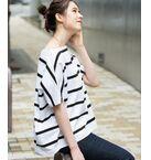 【Traditional Weatherwear】BOATNECK SHORTSL TOP