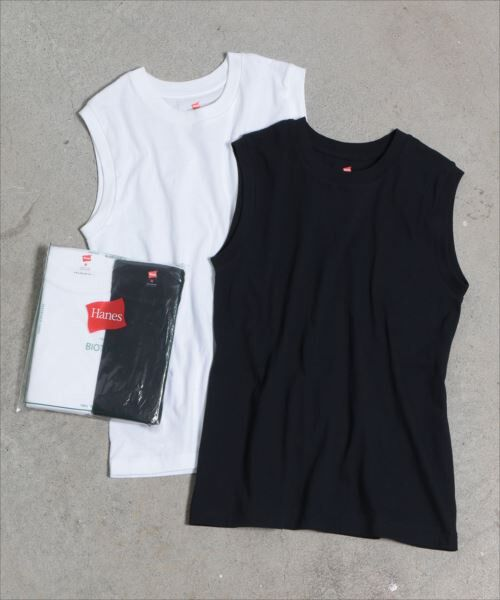 ADAM ET ROPE' / アダム エ ロペ カットソー | 【Hanes FOR BIOTOP】Sleeveless T-Shirts 2color | 詳細9