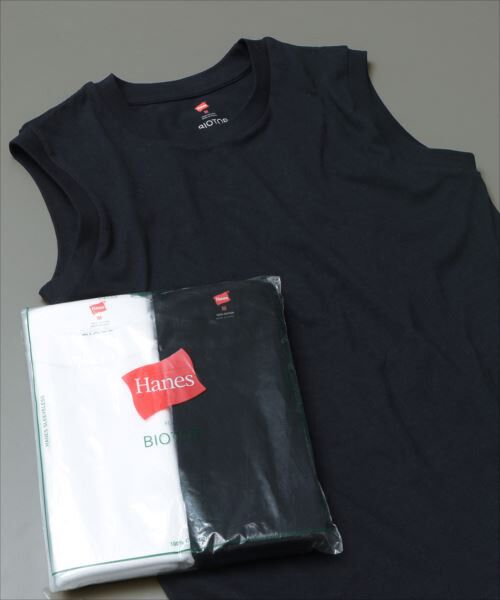 ADAM ET ROPE' / アダム エ ロペ カットソー | 【Hanes FOR BIOTOP】Sleeveless T-Shirts 2color(ネイビー(40))