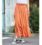 【InRed 5月号掲載】【一部予約】コットンシルクギャザースカート