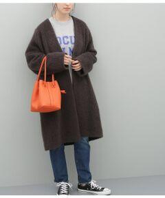【一部予約】モヘヤシャギーノーカラーコート