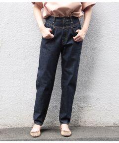 <b>ヴィンテージ風の色落ちが、履きこみにより大人のこなれ感を演出</b></br></br>今のトレンドにぴったりな、新鮮なデザインのデニムを別注しました。<br>80年代、ベーシックデニムしか存在しなかった時代にファッションデニムの先駆けとして登場したデザインが、このペダルプッシャーデニム。 ウエスト切り替えデザインがポイントで、ハイウエストですがおなか周りがすっきりと見せてくれるのが特徴です。 股上が深いので非常に動きやすく、裾に向けてギュッと細くなったシルエットで脚長効果もあり。商品名の由来の通り、自転車に乗ってペダルを踏む時に、チェーンなどに絡んだり、汚れにくいように、裾が細く折り返ししやすい様に企画されています。<br>ヴィンテージ風に色落ちが出来るムラ糸を使用しているので、履き込むごとにカッコよい色合いに変化していく事も楽しめます。<br><br>1サイズ=25インチ<br>2サイズ=26インチ<br>3サイズ=27インチ<br>4サイズ=28インチ<br><br><br><br>【BIG JOHN for ADAM ET ROPE'】 <br>日本が誇る最高のデニム生産技術を持つBIG JOHNとアダムエロペのコラボレーション企画。<br>「日本で一番最初にJEANSをつくった会社」として、国産ジーンズのパイオニアであり、世界初のジーンズの洗い加工「ビッグウォッシング」を発明するなど、ジーンズの聖地、児島より伝統と革新を発信し続けるブランド、BIG JOHN(ビッグジョン)。プロダクトにおいてもリーガル理念でもある「Quality Comes First.(品質は全てに優先にする)」をモットーとしている。 <br><br>※製品洗い仕上げをしておりますので、サイズ表記との若干の個体差はご了承下さい。<br>※画像の商品はサンプルです。お届けする商品に仕様・サイズ等の変更が生じる場合がございます。予めご了承ください。<br>※ロケ撮影画像は、光の当たり具合で色味が異なって見える場合がございます。商品の色味は、スタジオ撮影の画像をご参照ください。