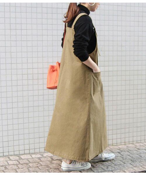 ADAM ET ROPE' / アダム エ ロペ ロング・マキシ丈ワンピース | 【WEB限定】Dカン付ジャンパースカート | 詳細3
