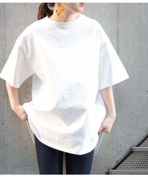 ADAM ET ROPE' / アダム エ ロペ カットソー | 【予約】【19SS新色】BIG TEE(ホワイト(10))