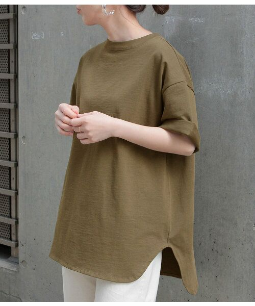 ADAM ET ROPE' / アダム エ ロペ カットソー | 【予約】【19SS新色】BIG TEE(カーキ(36))
