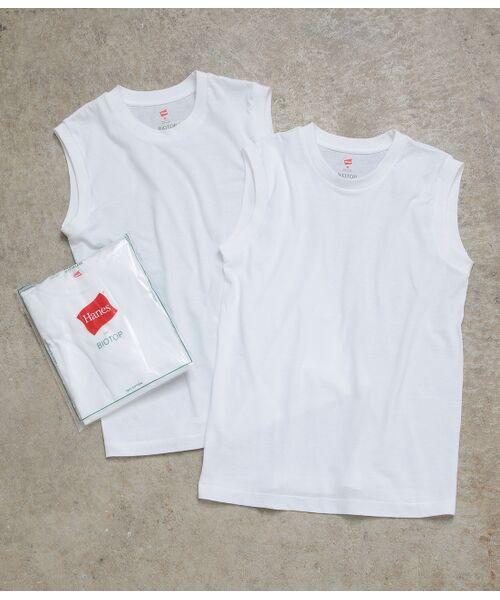 ADAM ET ROPE' / アダム エ ロペ カットソー   【Hanes FOR BIOTOP】Sleeveless T-Shirts   詳細5