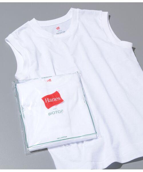 ADAM ET ROPE' / アダム エ ロペ カットソー   【Hanes FOR BIOTOP】Sleeveless T-Shirts(ホワイト(10))