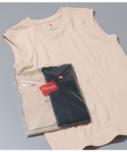 ADAM ET ROPE' / アダム エ ロペ カットソー | 【予約】【Hanes FOR BIOTOP】Sleeveless T-Shirts(カラー)(ベージュ(27))