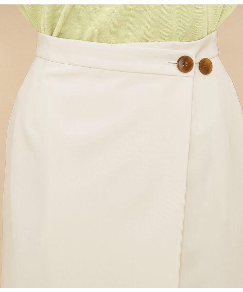 ADAM ET ROPE' / アダム エ ロペ スカート | ボタン付ラップスカート | 詳細6