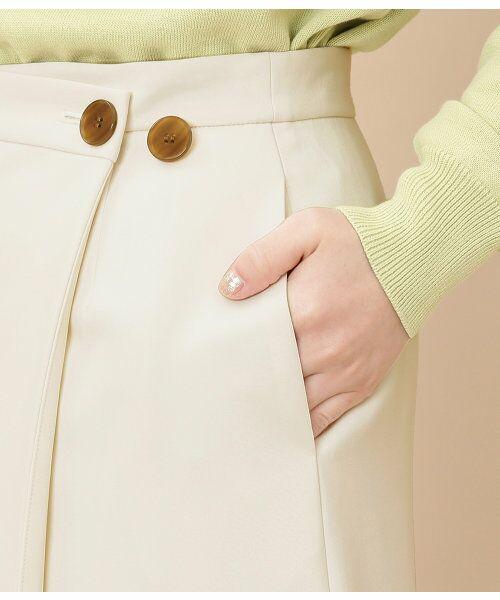 ADAM ET ROPE' / アダム エ ロペ スカート | ボタン付ラップスカート | 詳細8