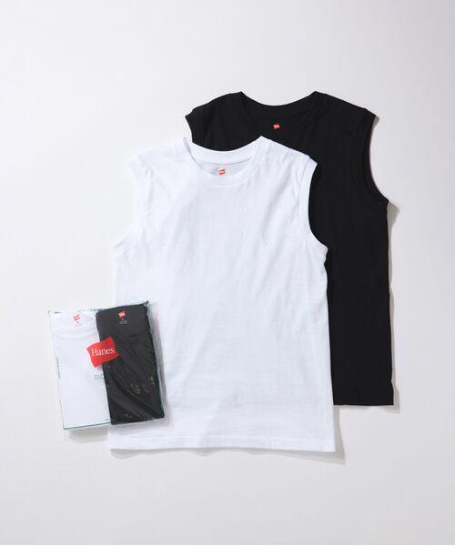 ADAM ET ROPE' / アダム エ ロペ カットソー | 【Hanes FOR BIOTOP】Sleeveless T-Shirts(カラー)(ブラック(01))