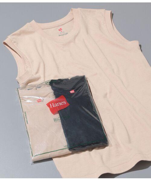 ADAM ET ROPE' / アダム エ ロペ カットソー | 【Hanes FOR BIOTOP】Sleeveless T-Shirts(カラー)(ベージュ(27))