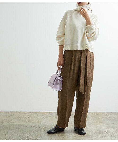 ADAM ET ROPE' / アダム エ ロペ その他パンツ   1タックイージーワイドパンツ   詳細12