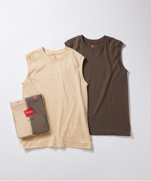 ADAM ET ROPE' / アダム エ ロペ カットソー   【Hanes for BIOTOP】Sleeveless T-Shirts/color(ダークブラウン(20))