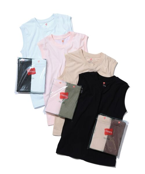 ADAM ET ROPE' / アダム エ ロペ カットソー   【Hanes for BIOTOP】Sleeveless T-Shirts/color   詳細22
