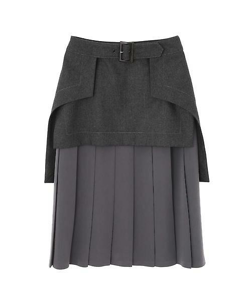 ADORE / アドーア スカート | メンズフラノプリーツスカート(グレー)