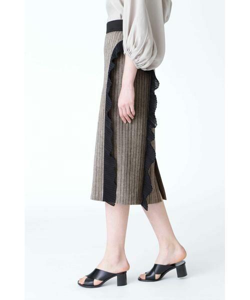 ADORE / アドーア スカート   サーブルヘリンボーンスカート   詳細3