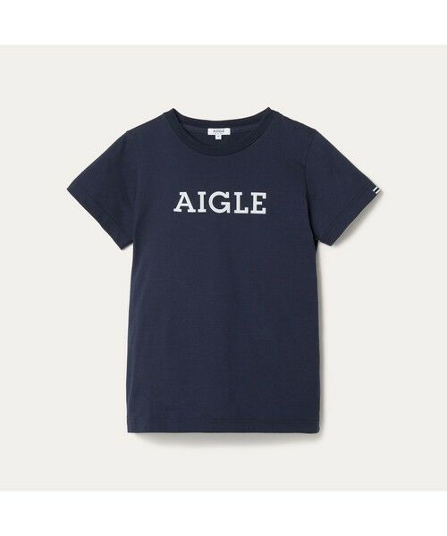 AIGLE / エーグル Tシャツ | 吸水速乾 エーグル グラフィック ロゴTシャツ | 詳細4