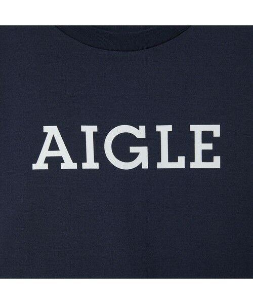 AIGLE / エーグル Tシャツ | 吸水速乾 エーグル グラフィック ロゴTシャツ | 詳細5