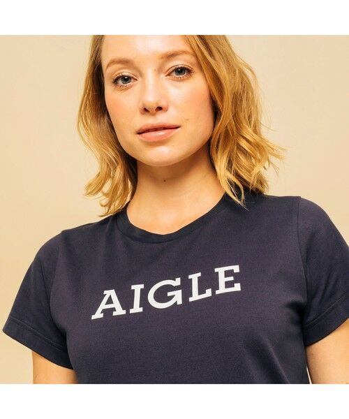 AIGLE / エーグル Tシャツ | 吸水速乾 エーグル グラフィック ロゴTシャツ | 詳細1