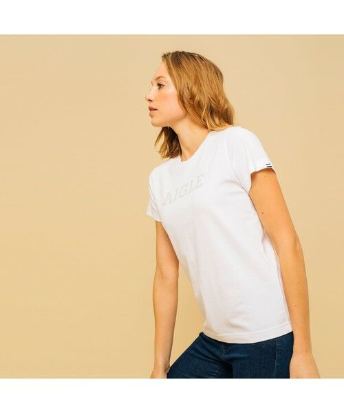 AIGLE / エーグル Tシャツ | 吸水速乾 エーグル グラフィック ロゴTシャツ | 詳細6