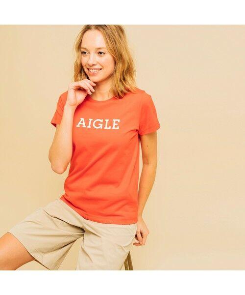 AIGLE / エーグル Tシャツ | 吸水速乾 エーグル グラフィック ロゴTシャツ | 詳細13