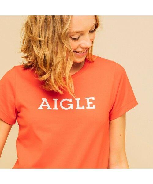 AIGLE / エーグル Tシャツ | 吸水速乾 エーグル グラフィック ロゴTシャツ(レッド)