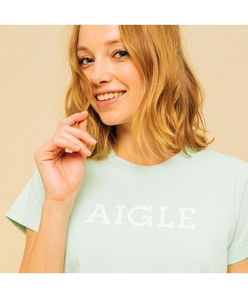 AIGLE / エーグル Tシャツ | 吸水速乾 エーグル グラフィック ロゴTシャツ | 詳細18