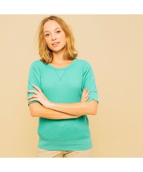 AIGLE / エーグル Tシャツ   吸水速乾 ルミラソル ワッフルTシャツ(エメラルド)