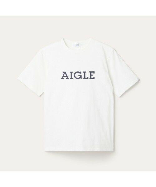 AIGLE / エーグル Tシャツ   吸水速乾 エーグル グラフィック ロゴTシャツ   詳細3