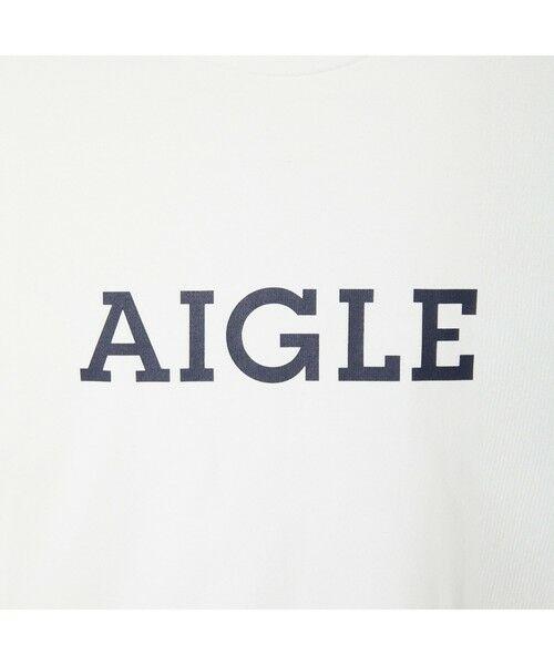AIGLE / エーグル Tシャツ   吸水速乾 エーグル グラフィック ロゴTシャツ   詳細4