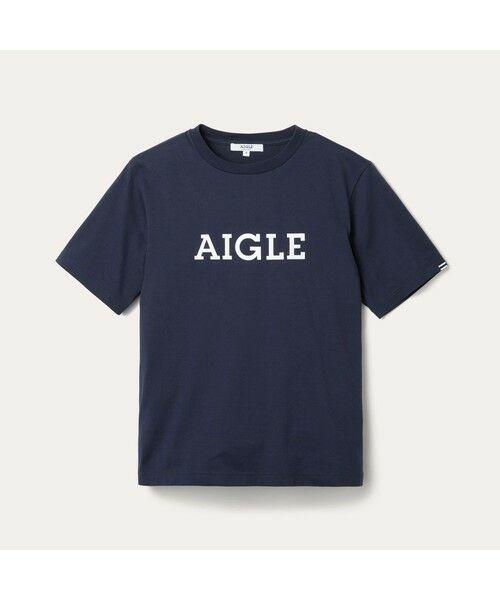 AIGLE / エーグル Tシャツ   吸水速乾 エーグル グラフィック ロゴTシャツ   詳細7