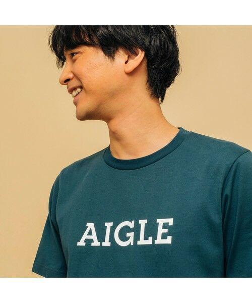 AIGLE / エーグル Tシャツ   吸水速乾 エーグル グラフィック ロゴTシャツ   詳細10