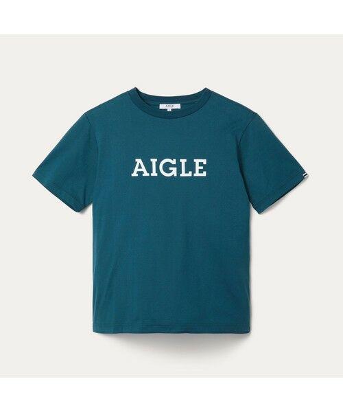 AIGLE / エーグル Tシャツ   吸水速乾 エーグル グラフィック ロゴTシャツ   詳細11