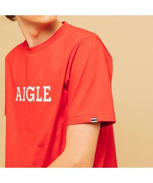 AIGLE / エーグル Tシャツ   吸水速乾 エーグル グラフィック ロゴTシャツ   詳細14