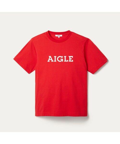 AIGLE / エーグル Tシャツ   吸水速乾 エーグル グラフィック ロゴTシャツ   詳細15
