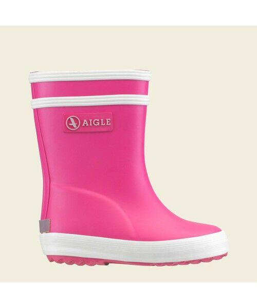 AIGLE / エーグル レインシューズ   ベビーフラック ラバーブーツ(ピンク)