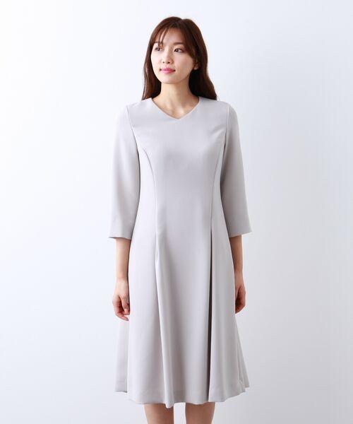 AMACA / アマカ ロング・マキシ丈ワンピース | 【Sサイズ〜】トリアセテートストレッチ ドレス | 詳細3