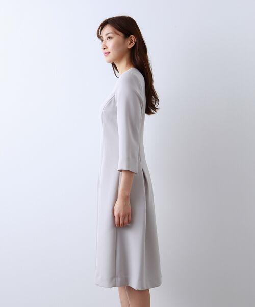 AMACA / アマカ ロング・マキシ丈ワンピース | 【Sサイズ〜】トリアセテートストレッチ ドレス | 詳細4