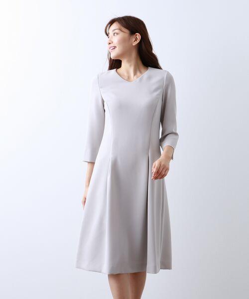 AMACA / アマカ ロング・マキシ丈ワンピース | 【Sサイズ〜】トリアセテートストレッチ ドレス(グレー3)